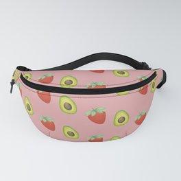 Strawberry & Avocado Pattern (Pink) Fanny Pack