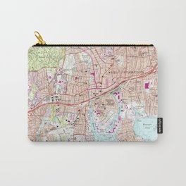 Stamford Connecticut Map (1987) Carry-All Pouch