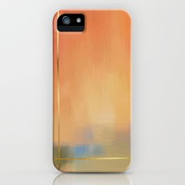 Abstract Landscape With Golden Lines Painting iPhone Case