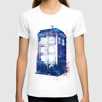 tardis T-shirts featuring Tardis by lauramaahs