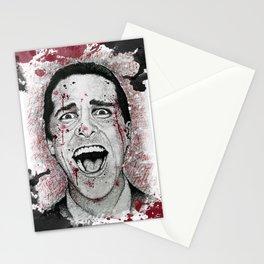 Patrick Bateman Scribble Portrait Stationery Cards