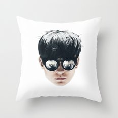Sea Boy Portrait Throw Pillow