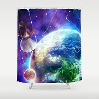 constellation Shower Curtains featuring Constellation by J ō v