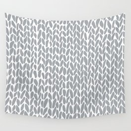 Hand Knit Zoom Grey Wall Tapestry