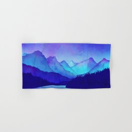 Cerulean Blue Mountains Hand & Bath Towel