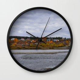 Autumn in Council, Alaska Wall Clock