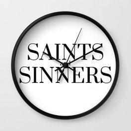 Saints and sinners Wall Clock