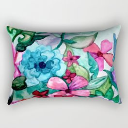 Floral Cocktail Rectangular Pillow