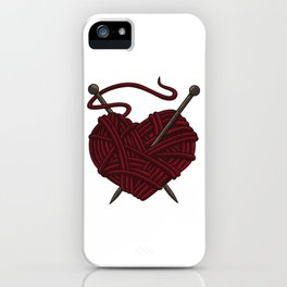 I Love Knitting | Wool Needle Heart Sewing Craft iPhone Case