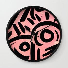 Pink Tribal Graffiti Wall Clock