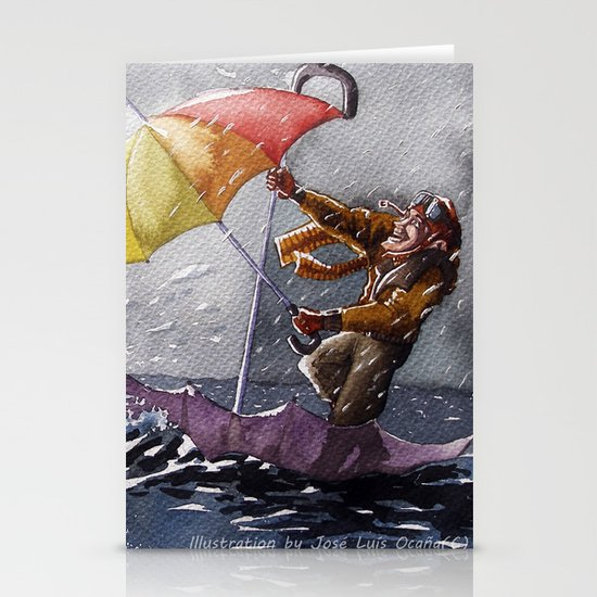 Umbrella Man Stationery Cards