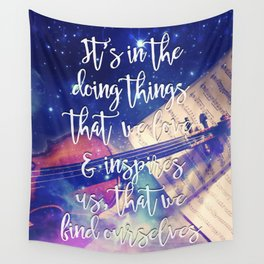 Violin Dream • Find Self Quote • Do What You Love Wall Tapestry