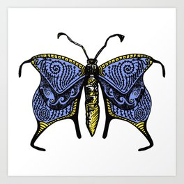 Nondescript Moth that you may talk with on a bus and never think about again Art Print