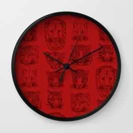 Kickass Kitties - blood Wall Clock