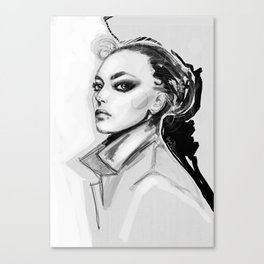 Sensual darkness Canvas Print