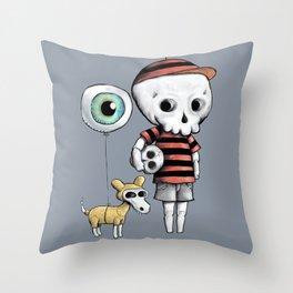 Skull Kid Throw Pillow