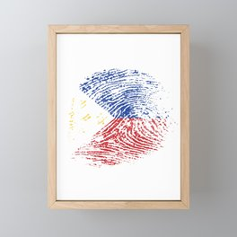 It's In My Dna Philippines Vintage Flag Filipino Pride Gift Framed Mini Art Print