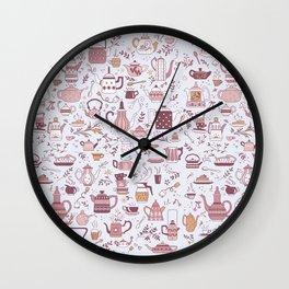 Teapots #1 Wall Clock