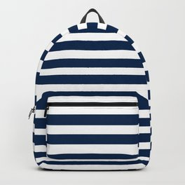 Navy-White ( Stripe Collection ) Backpack