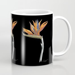 Bird of Paradise 01b Botanical Flower Coffee Mug
