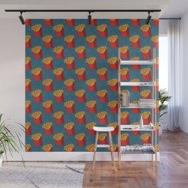 FAST FOOD / Fries - pattern Wall Mural