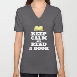 Keep Calm and Read a Book Unisex V-Neck