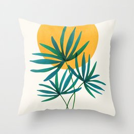 Little Palm + Sunshine Throw Pillow