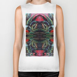 SURREAL DESERT AGAVE & BLUE DRAGONFLIES REFLECTIONS Biker Tank