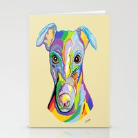 greyhound Stationery Cards featuring Greyhound by EloiseArt