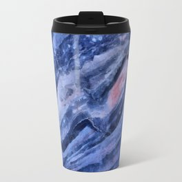 Blue watercolor marble Travel Mug