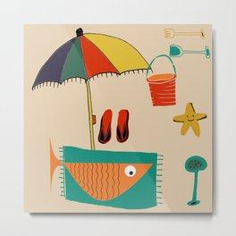 fish at the beach Metal Print