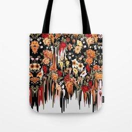 Free Falling, melting floral pattern Tote Bag