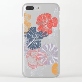 Poppy Field Clear iPhone Case