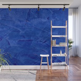 Dark Classic Blue Ombre Burnished Stucco - Faux Finishes - Venetian Plaster - Corbin Henry Wall Mural