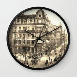 Berlin retro antique Unter den Linden travel ad sepia Wall Clock