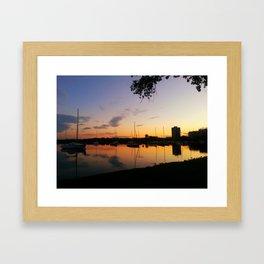 Lake Calhoun at Sunset Framed Art Print