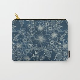 indigo bloom // repeat pattern Carry-All Pouch