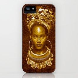 Afrofuturist style iPhone Case