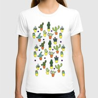 cacti T-shirts featuring Cacti by Alisse Ferrari