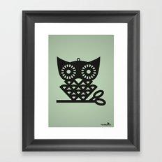 Green Hoot Framed Art Print