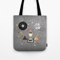 evolution Tote Bags featuring EVOLUTION by rpcabardo