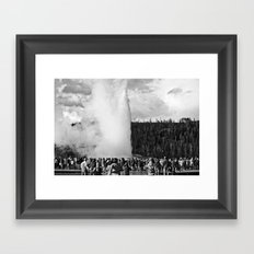 old faithful Framed Art Print