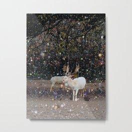 White Reindeer Metal Print
