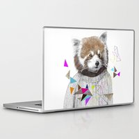 kris tate Laptop & iPad Skins featuring RED PANDA by Jamie Mitchell and Kris Tate by Kris Tate