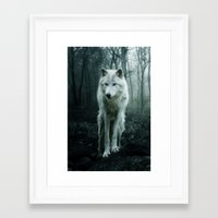 wolf Framed Art Prints featuring Wolf by Julie Hoddinott