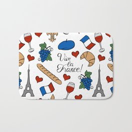 Vive la France! Bath Mat