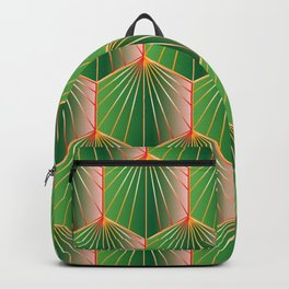 Glam Rock Peacock Green Backpack