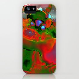 Nebula Contemporary Abstract Painting iPhone Case