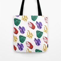 minerals Tote Bags featuring Minerals by kristinesarleyart