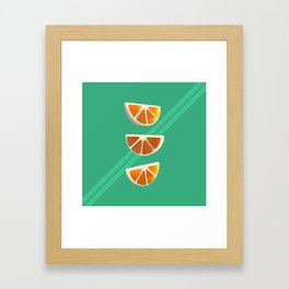 Orange Chew Candy Framed Art Print